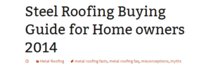steel roofing buying guide