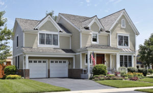 large home with tile siding