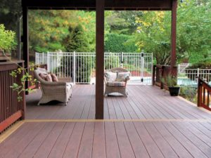 large patio and deck
