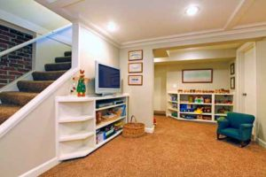 newly remodeled basement play room