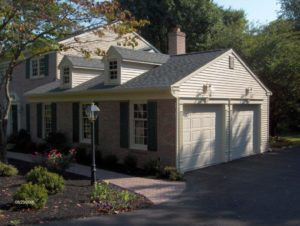 exterior remodeled home with attached garage