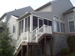 attached screened in porch builders