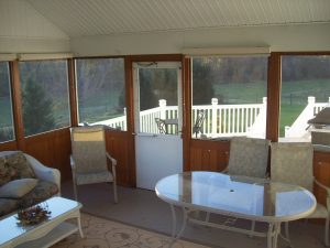screened in patio door