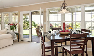 french doors on sunroom addition