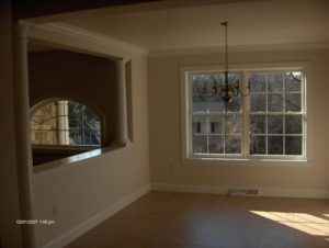newly constructed room in home
