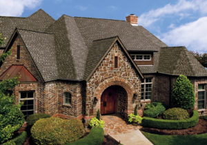 beautiful stone home with new roof