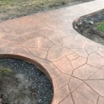 newly installed concrete patio