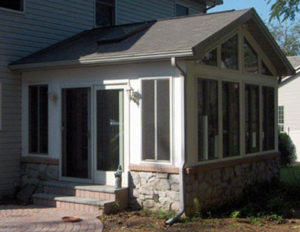 patio siding doors on new home addition