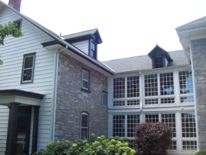 large house with new replacement windows