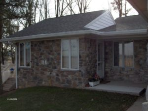 house with new stone siding