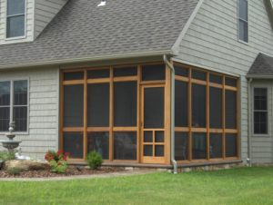 wooden screened in porch