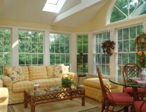 furnished sunroom addition