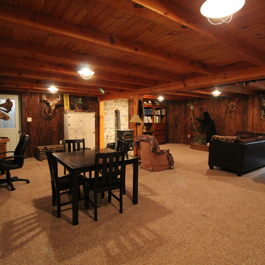 fully furnished basement remodel