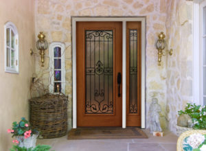 new front door on contemporary home