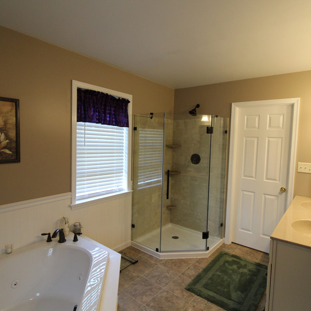 newly renovated bathroom in residential home