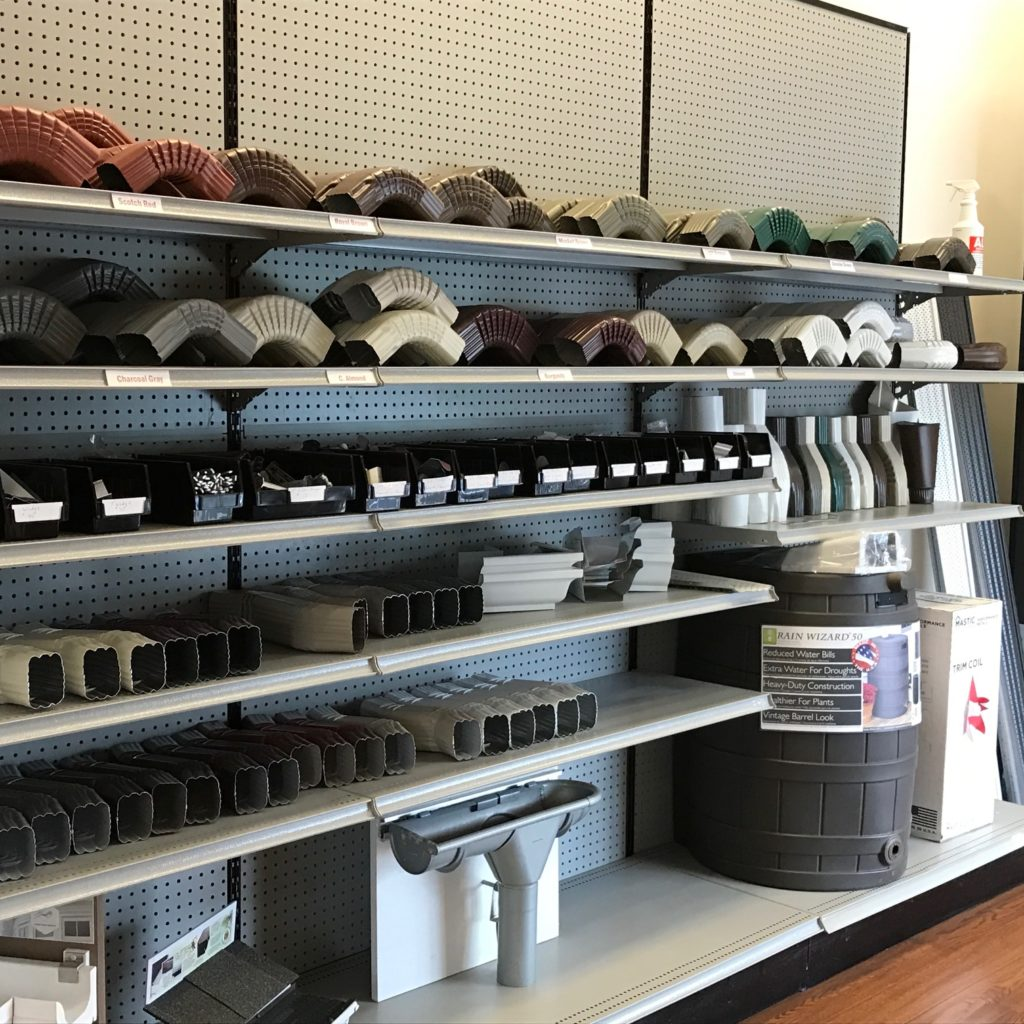 gutter guards and parts in eagle building solutions store
