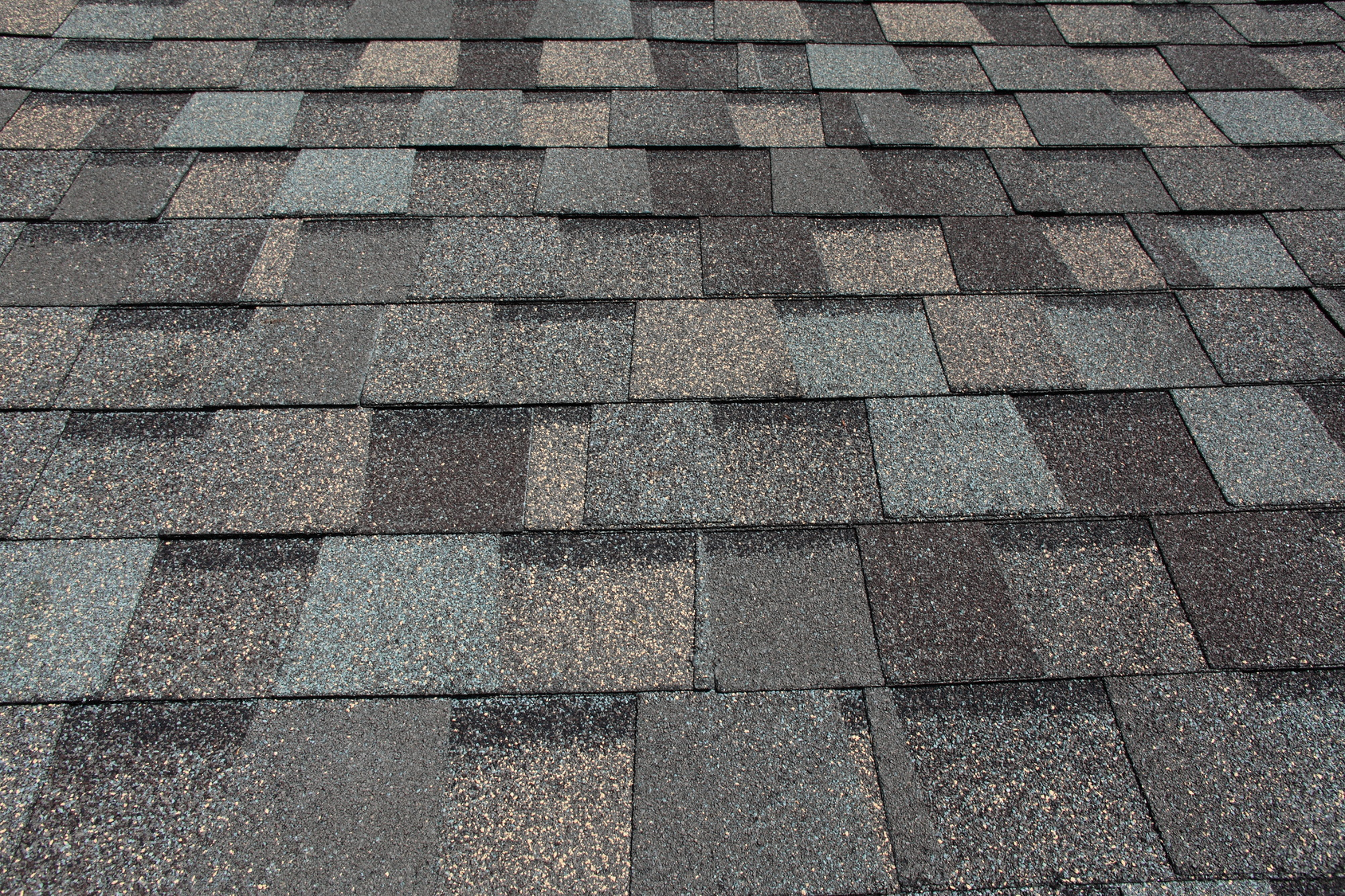 close up of new asphalt shingle roof