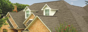 large home with new asphalt shingle roof
