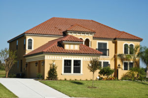 red stucco roof