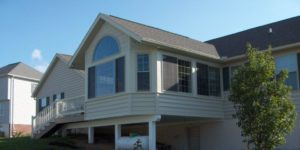 composite siding on house